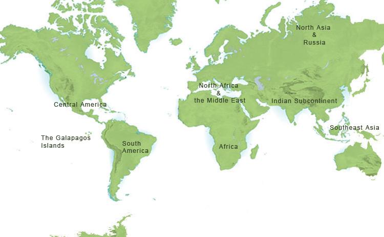 Destinations Map